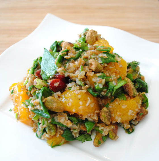 Moroccan Salad with Cilantro Orange Dresssing