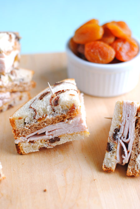 Double Decker Apricot Turkey Sandwiches