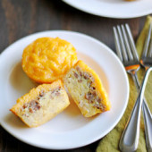 Sausage, Egg, Cheese, & Hash Brown Muffins