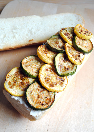 Roasted Zucchini and Ricotta Sandwich