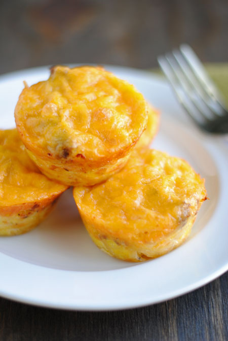Sausage, Egg, Cheese, & Hashbrown Muffins