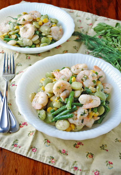 Summer Shrimp Succotash