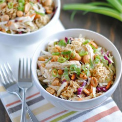 Crunchy Ramen Chicken Salad