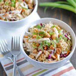 Crunchy Ramen Chicken Salad