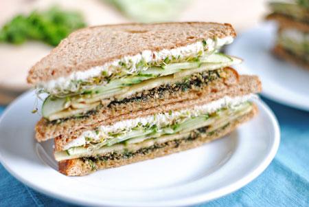 Goat Cheese & Mint Pesto Sandwich