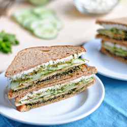 Goat Cheese & Mint Pesto Sandwich
