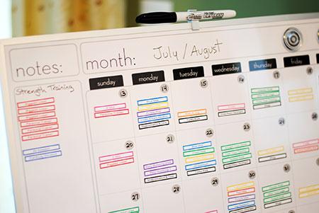 The Workout Calendar