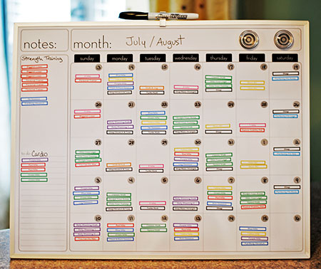 The Workout Calendar