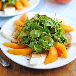 Peach & Fresh Mozzarella Arugula Salad