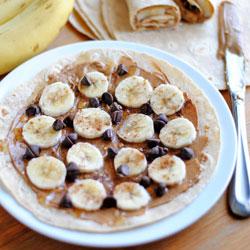 Peanut Butter & Banana Wraps