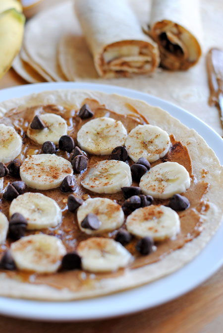 Peanut Butter & Banana Wraps