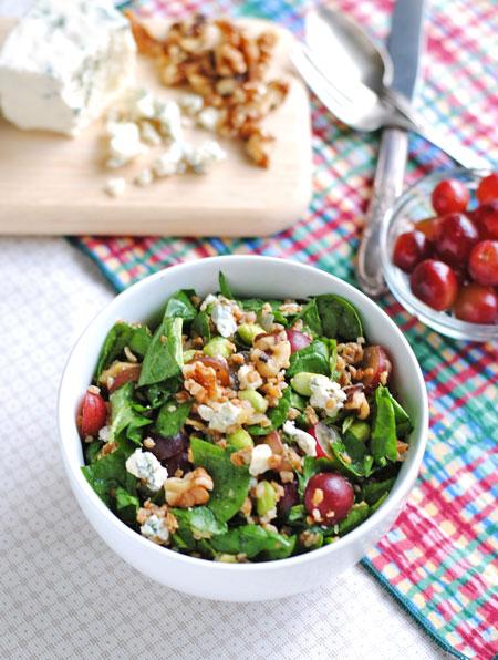 Spinach Walnut Power Salad