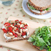 White Bean & Mozzarella Sandwich