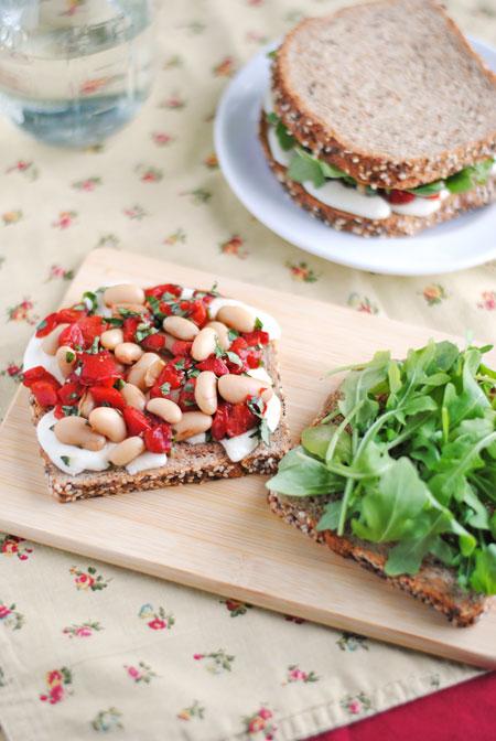White Bean & Mozzarella Sandwich