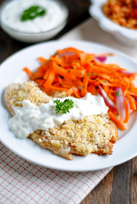Tilapia with Fennel-Yogurt Sauce
