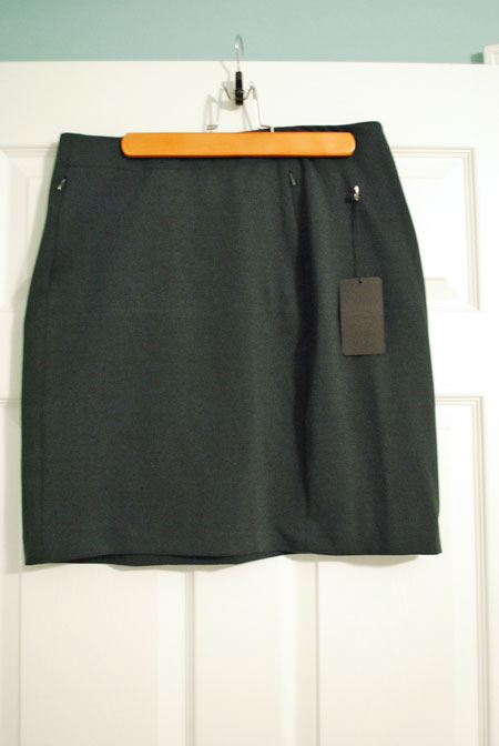 41Hawthorn Violet Ponte Pencil Skirt