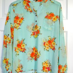 Sweet Rain Isaac Floral Print Tab Sleeve Blouse