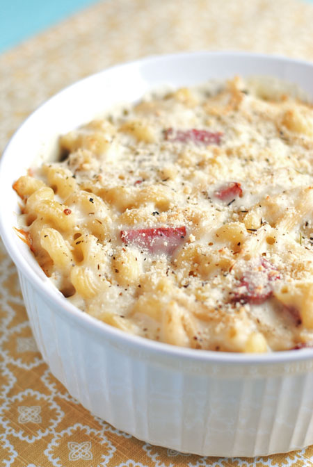Italian Mac & Cheese with Smoked Sausage