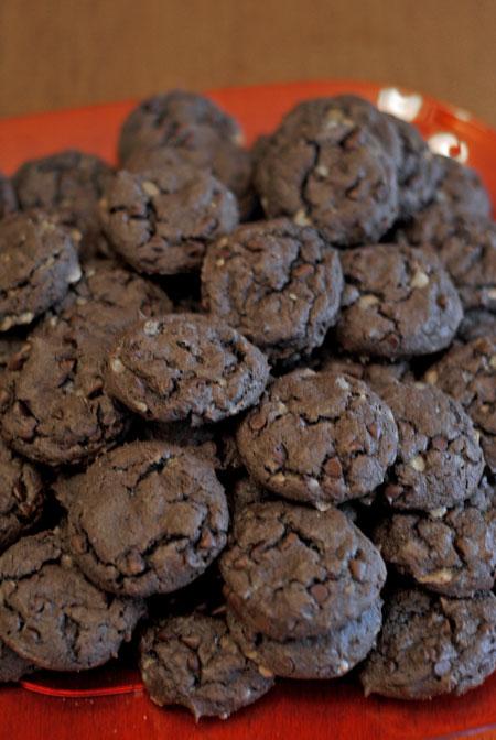 Mocha Toffee Chocolate Cookies