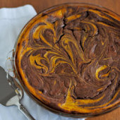 Pumpkin Brownie Swirl Pie