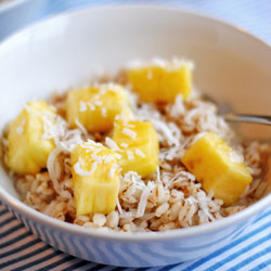 Barley with Pineapple, Coconut, and Flaxseed