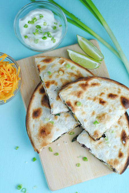 Crispy Vegetable Quesadilla
