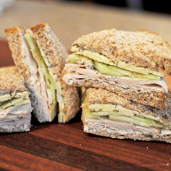 Turkey Cucumber Dill Sandwich