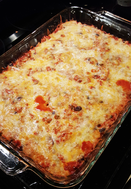 Sweet Potato Enchilada Bake