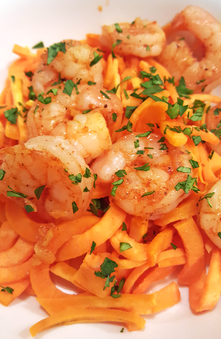Sweet Potato Noodles with Shrimp