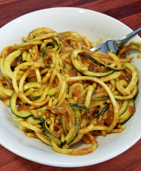 Zucchini Noodles with Peanut Sauce