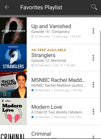 Podcasts Favorites Playlist