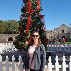 Christmas Tree in Alamo Plaza