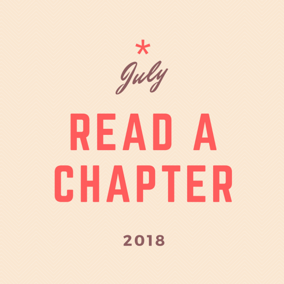 July 2018 30-Day Challenge: Read a Chapter