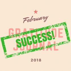February Gratitude Journal Challenge Success