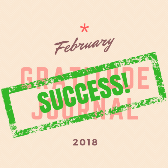 February Gratitude Journal Challenge Success