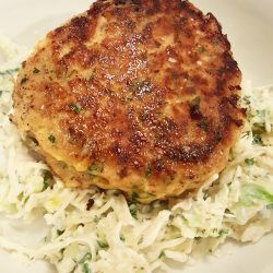 Salmon Burgers with Slaw