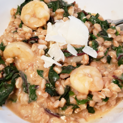 Farro and Shrimp with Parmesan and Feta
