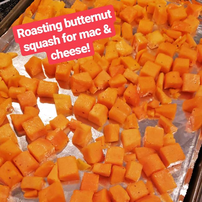 roasting butternut squash